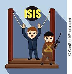 ISIS Terrorist Captured Vector