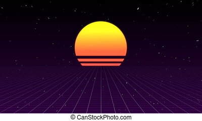 iskrzasty, zachód słońca, tło