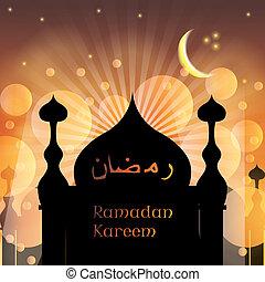 islámico, árabe, ramadan, plano de fondo, kareem