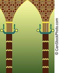 islámico, diseño, arquitectura