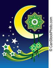 islámico, diseño, icono