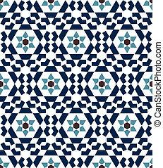 islámico, geométrico, seamless, patrón