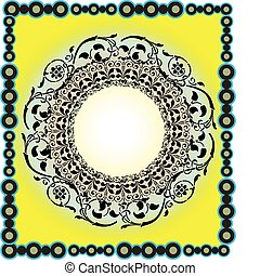 islámico, ilustración, arte, diseño
