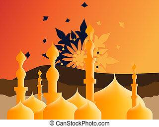 islámico, ilustración