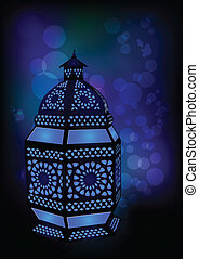 islámico, lámpara, ramadan, /, eid
