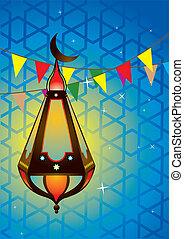islámico, linterna antigua