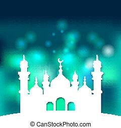 islámico, mezquita, plano de fondo