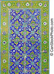islámico, pared, 2