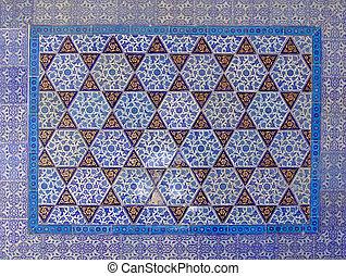 islámico, pared, 3