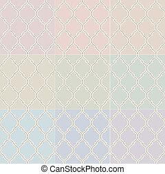 islámico, pastel, seamless, patrón