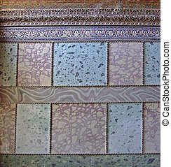 islámico, patrón, en, azulejos