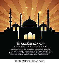 islámico, ramadan, plano de fondo, kareem