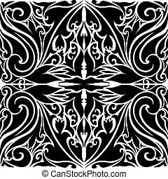 islámico, vector, tile-able, plano de fondo