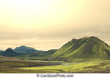 isländisch, landschaftsbild