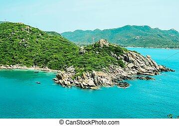 isla, ba, vietnam, hermoso, binh