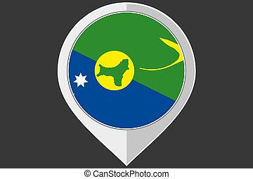 isla, bandera, indicador, navidad