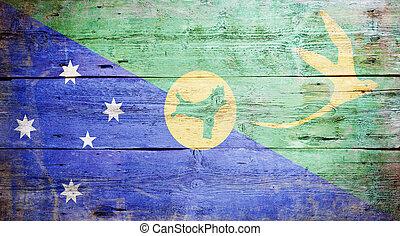 isla, bandera, navidad