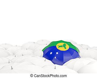 isla, bandera, paraguas, navidad