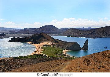 Isla Bartolome in the Galapagos Islands of Ecuador