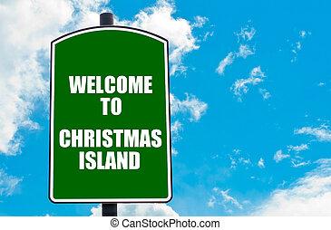 isla, bienvenida, navidad