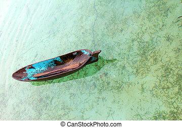 isla, bote de río, mabul, (sampan)