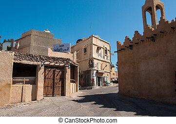 isla, calles, tranquilidad, tarout, arabia saudita