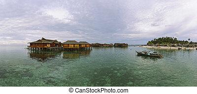 isla de mabul, panorama, (xxxl)