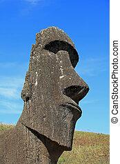 isla de pascua, estatua de moai