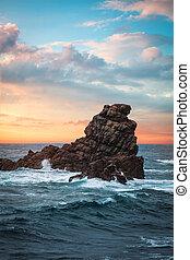 isla de pascua, rocoso, coast.