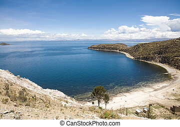 """Situated on the Bolivian side of the lake with regular boat links to the Bolivian town of Copacabana, Isla del Sol (""""Island of the sun"""") is one of the lake's largest islands."""