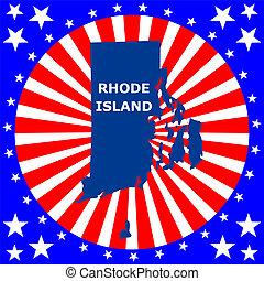 isla, estado, rhode