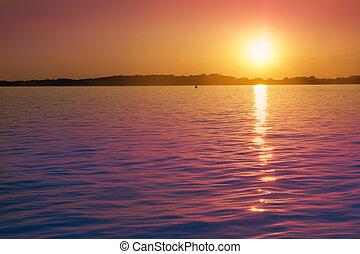 isla, formentera, illetas, mar, balear, salida del sol