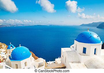 isla, grecia, santorini