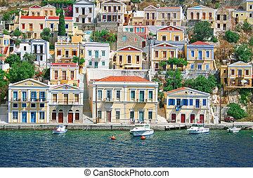 isla, greece., symi