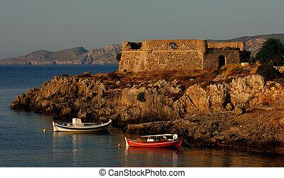 isla, kithira, grecia