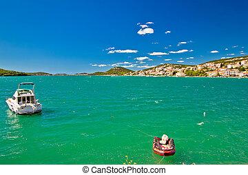 isla, murter, colrful, vista marina