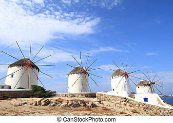 isla, mykonos, grecia, clásico, iglesia