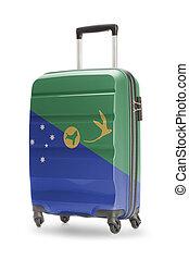 isla, nacional, -, él, bandera, maleta, navidad
