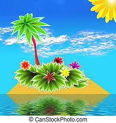 isla, paraíso