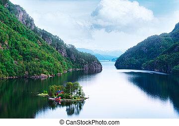 isla pequeña, impresionante, vista