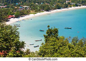 isla, phangan, thailand., koh