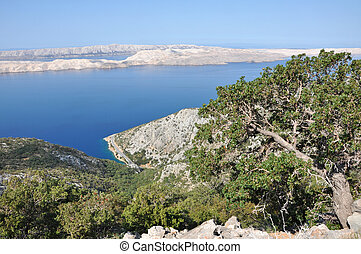 isla, piedra caliza, croacia