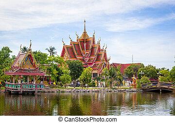 isla, samui, templo budista