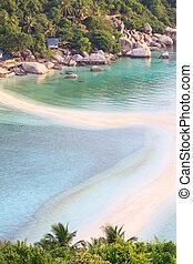 isla, Tailandia, playa,  nangyuan,  T