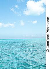 isla tropical, cielo