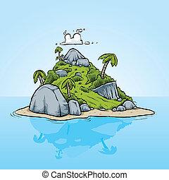 isla tropical, diminuto