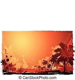 isla tropical, miedoso