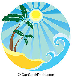 isla tropical, palmas de mar