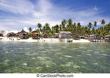 isla tropical, paraíso