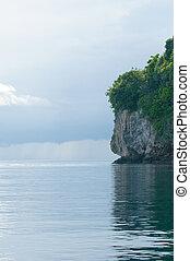 isla tropical, rocoso